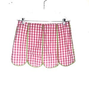 Lily Pulitzer Moxie Skort Gingham Plaid Size 6